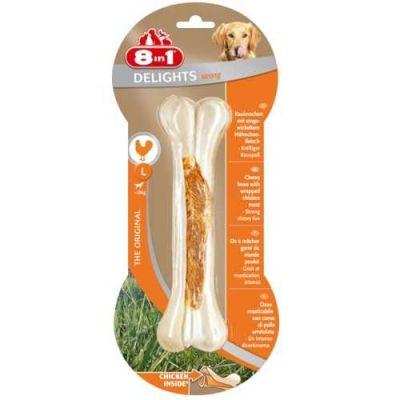 8 in 1 - 8in1 Delights Bones Köpekler İçin Ağız Bakım Pres Kemiği Large