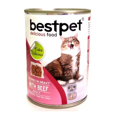 Best Pet - Bestpet Biftekli Konserve Kedi Maması 400 gr