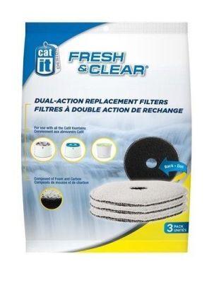 Catit - Catit 50057 Fresh Clear Su Sebili Karbon Filtre 3lü Paket