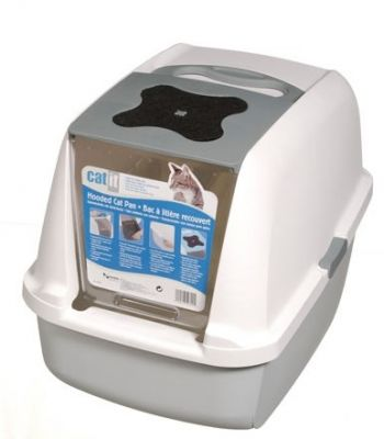 Catit - Catit Kapalı Kedi Tuvalet Kabini Koyu Gri 57cm B x 46cm Y x 39cm