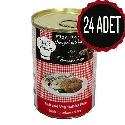 Chef′s Choise - Chefs Choice Balıklı Sebzeli Ezme Tahılsız Kedi Konseve Maması 400 Gr x 24