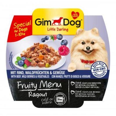 Gimdog - Gimdog Fruity Sığır Yaban Mersini Köpek Konservesi 100gr