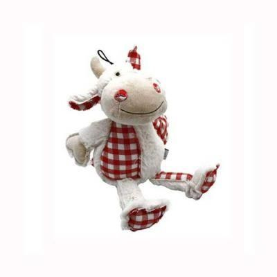 Happy Pet - Happy Pet Plaidimal Cow Sesli Peluş Köpek Oyuncağı 30 Cm