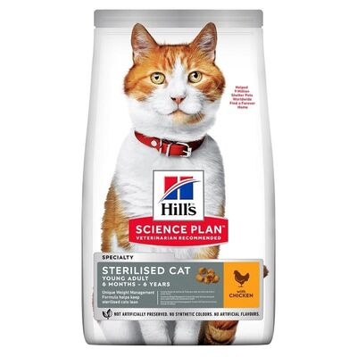Hills - Hills Adult Tavuklu Kısırlaştırılmış Yetişkin Kedi Maması 10 Kg