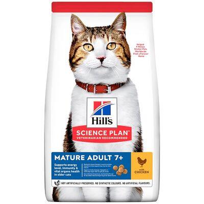 Hills - Hills Mature Adult +7 Tavuklu Yaşlı Kedi Maması 3 Kg