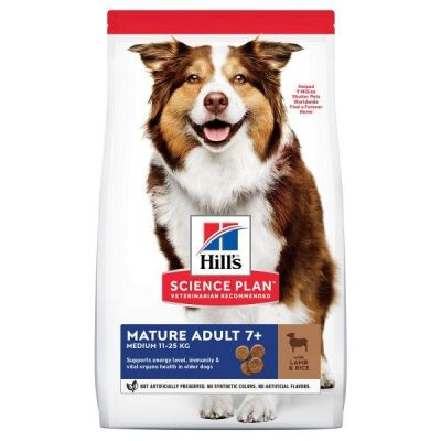 Hills - Hills Mature Adult Lamb & Rice Kuzu Etli Yaşlı Köpek Maması 14 Kg