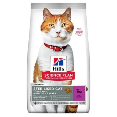 Hills - Hills Sterilised Duck Ördekli Kısırlaştırılmış Kedi Maması 10 Kg