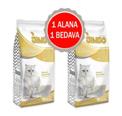 Jingo - Jingo Naturel Bentonit Kedi Kumu Kalın Taneli 10 L - 2 ADET