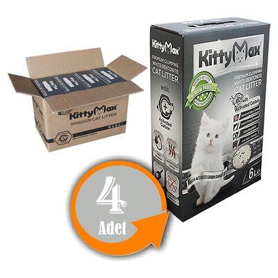 KittyMax - KittyMax Aktif Karbonlu Kedi Kumu 6L 4 AL 3 ÖDE