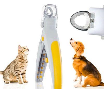 Diğer - Led Işıklı ve Büyüteçli Kedi Köpek Tırnak Makası