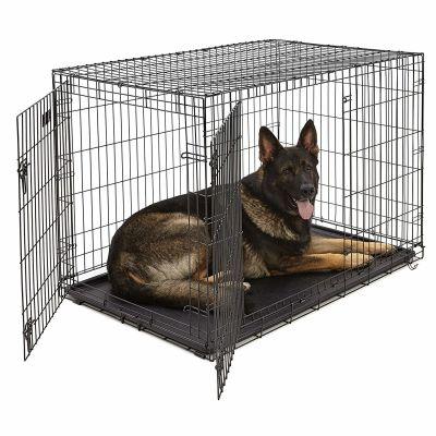 Lion - Lion İki Kapılı Katlanabilir Metal Köpek Kafesi 122x76x84Cm