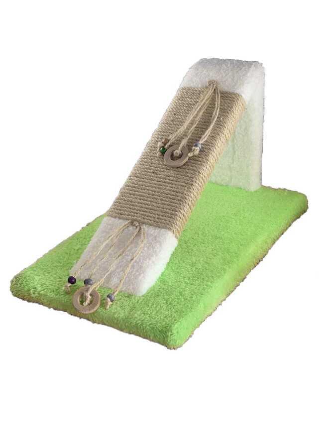 Miapet Ahşap Kedi Tırmalama Rampası Yeşil