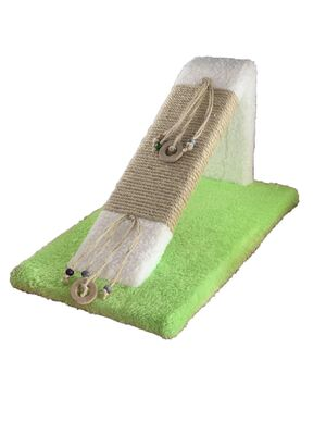 Miapet - Miapet Ahşap Kedi Tırmalama Rampası Yeşil