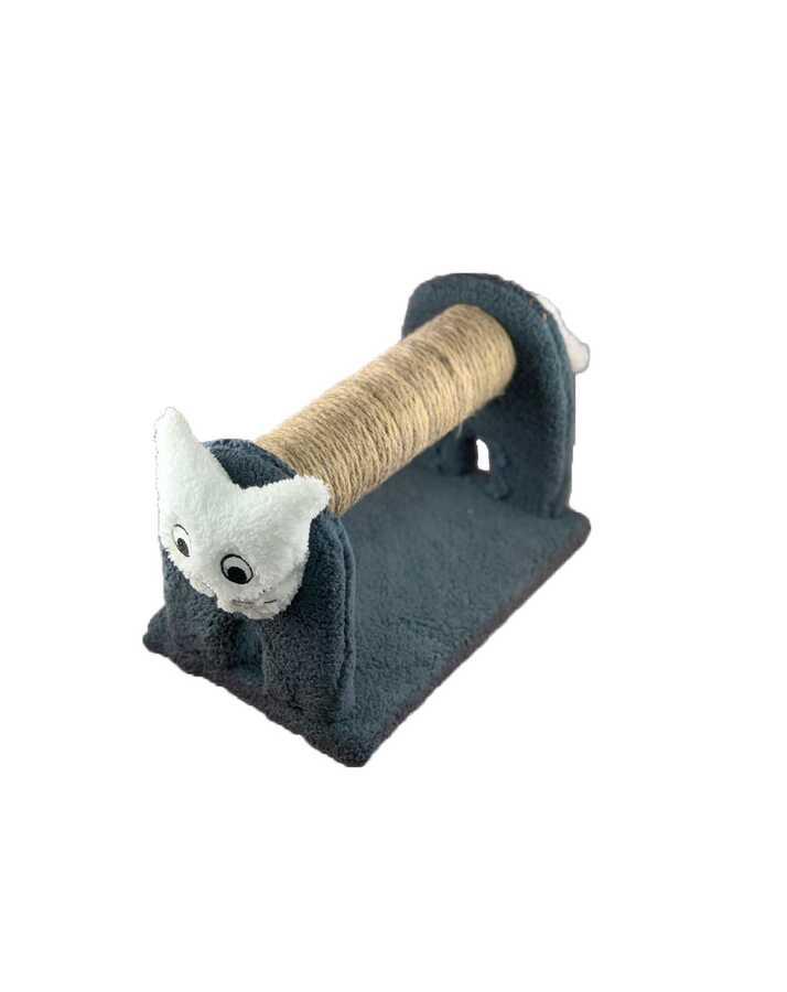 Miapet Ahşap Kedi Tırmalama Tahtası Cat Face Gri