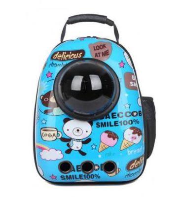 Miapet - Miapet Astronot Kedi Köpek Taşıma Çantası 43x23x29 Cm Mavi