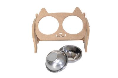 Miapet - Miapet Ayarlanabilir Kedi Köpek Çelik Mama Ve Su Kabı 200 ml