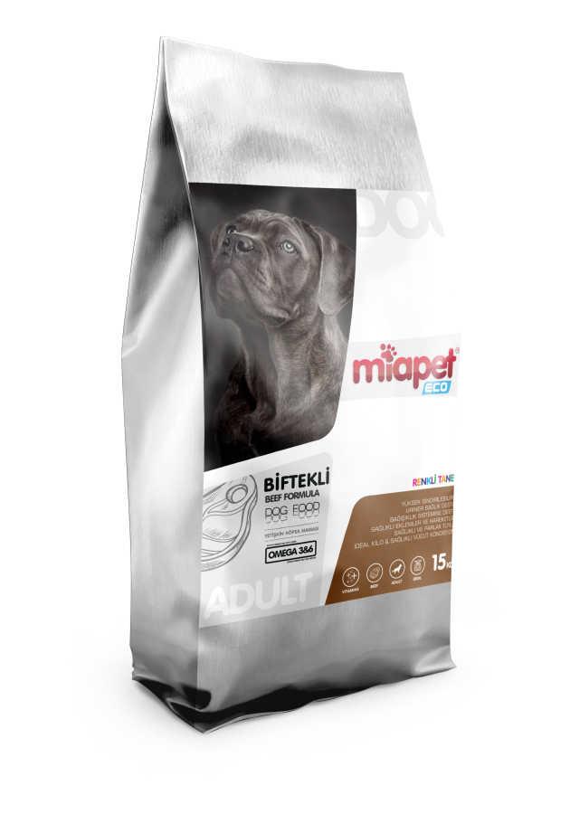 Miapet Eco Biftekli Renkli Taneli Yetişkin Köpek Maması 15 KG