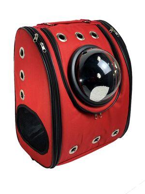 Miapet - Miapet Kumaş Astronot Kedi Köpek Taşıma Çantası 39x23x30 Cm Kırmızı