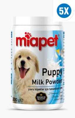 Miapet - Miapet Kutulu Puppy Milk Powder Yavru Köpek Süt Tozu 200 Gr 5'Lİ