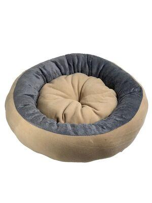 Miapet - Miapet Simit Kedi-Köpek Yatağı 50 cm Krem-Gri