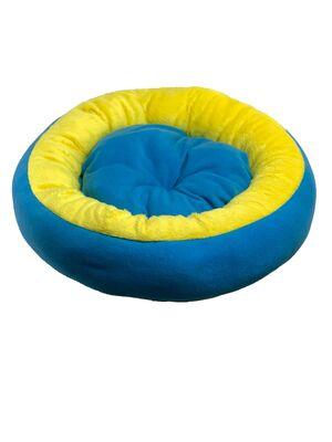 Miapet - Miapet Simit Kedi-Köpek Yatağı 50 cm Mavi-Sarı