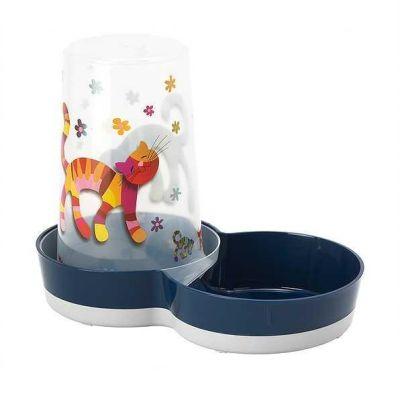 Moderna - Moderna Friends Hazneli Kedi Mama ve Su Kabı 1.5 LT Lacivert