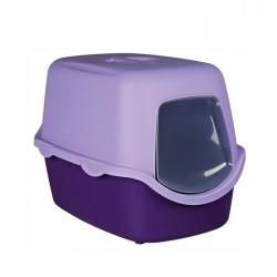 Moderna - Moderna Trendy Kapalı Kedi Tuvaleti Mor 39,5X50X37,5 Cm