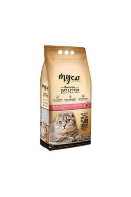 Mycat - Mycat Bebek Pudralı Bentonit Kedi Kumu Ince Taneli 5 Lt