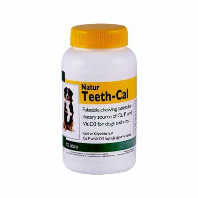Natur - Natur Teeth-Cal Köpek Vitamin Tablet 100 Tablet