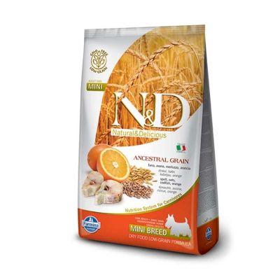 N&D - N&D Düşük Tahıllı Balıklı Portakallı Küçük Irk Yetişkin Köpek Maması 2,5 Kg