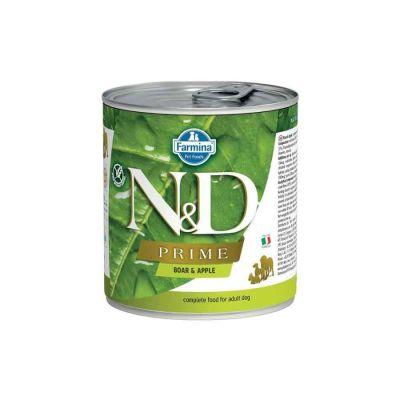 N&D - N&D Prime Tahılsız Domuz ve Elmalı Köpek Konservesi 285 gr