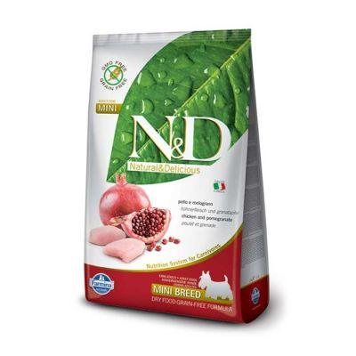 N&D - N&D Tahılsız Tavuklu Narlı Küçük Irk Yetişkin Köpek Maması 12 KG