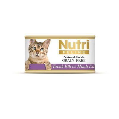 Nutri - Nutri Feline Tahılsız Tavuk Etli Hindili Kedi Konservesi 85 Gr