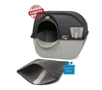 Omega Paw - Omega Paw Kendini Temizleyen Elekli Kedi Tuvaleti Siyah 59 x 52 x 53 cm