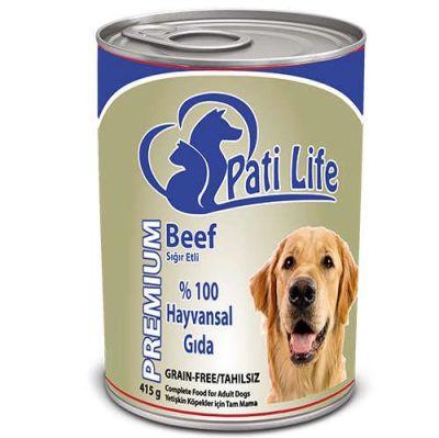 Pati Life - Pati Life Biftekli Yetişkin Köpek Konservesi 400 Gr