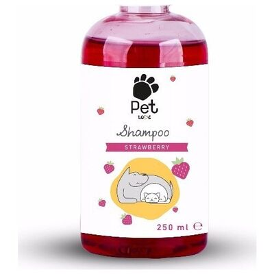 Pet Love - Pet Love Strawberry Eco Kedi Köpek Şampuanı 250 Ml