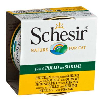 Schesir - Schesir Tavuklu ve Yengeç Etli Jöleli Kedi Konservesi 85 Gr