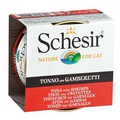Schesir - Schesir Ton Balıklı Karidesli Jöleli Kedi Konservesi 85 Gr